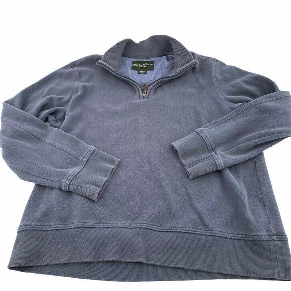 Eddie Bauer Mens 1/4 Zip Pullover Sweatshirt Sz XL